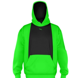 Neon Green Ice Hockey Sweatshirts