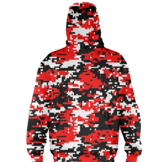 Red Camouflage Ice Hockey Sweatshirts