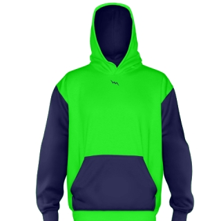 Neon Green Football Sweatshirts