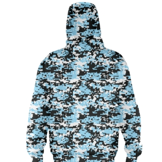 Blue Digital Camouflage Football Sweatshirts