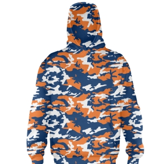 Orange Camouflage Football Sweatshirts