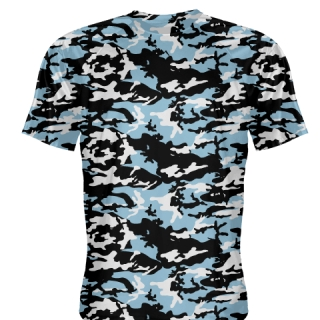 Light Blue Camouflage Basketball Shooter Shirts