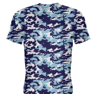 Navy Blue Camouflage Basketball Shooter Shirts