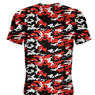Black Red Camouflage Basketball Shooter Shirts