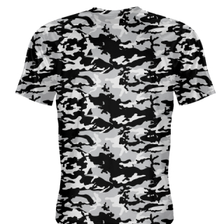 Silver Black Camouflage Basketball Shooter Shirts