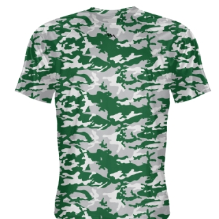 Silver Green Basketball Shooter Shirts