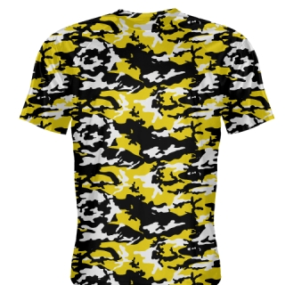 Black Gold Camouflage Basketball Shooter Shirts
