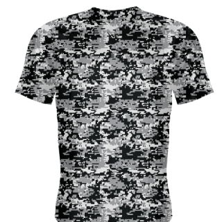 Black Digital Camouflage Basketball Shooting Shirts