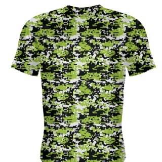 Neon Green Digital Camouflage Basketball Shooter Shirts