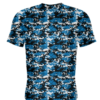Royal Blue Digital Camouflage Basketball Shooter Shirts