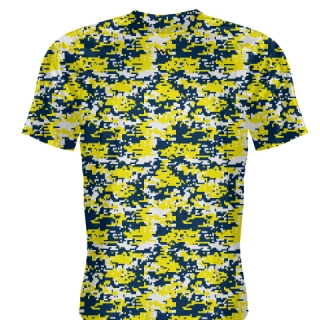 Yellow Navy Blue Basketball Shooter Shirts