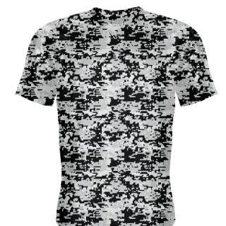 Silver Camouflage Basketball Shooter Shirts