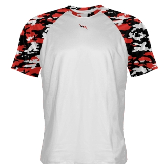 Red Camouflage Basketball Shooting Shirts