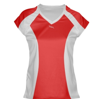 Red Womens Lacrosse Shirts