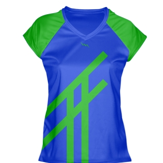 Neon Green Girls Lacrosse Shirts