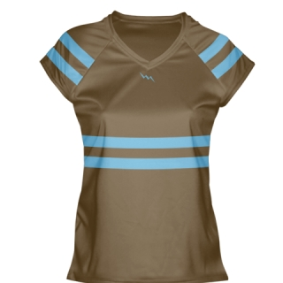 Brown Lacrosse Shirts Girls