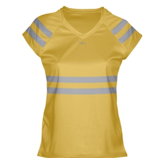 Athletic Gold Girls Lacrosse Shirts
