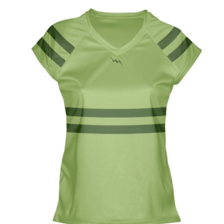 Lime Green Girls Lax Shirts