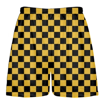 Black Gold Checker Shorts