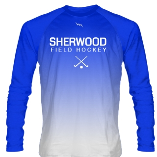 Blue Fade Long Sleeve Field Hockey Shirts