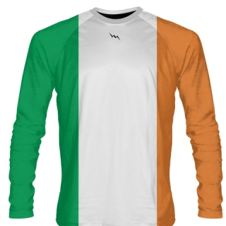Long Sleeve Irish Flag Shirts