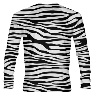 Long Sleeve Zebra Striped Shirts