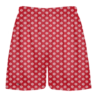 Red Snowflake Holiday Shorts & Christmas Shorts