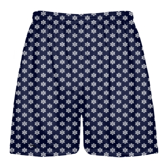 Blue Snowflake Shorts - Christmas Shorts