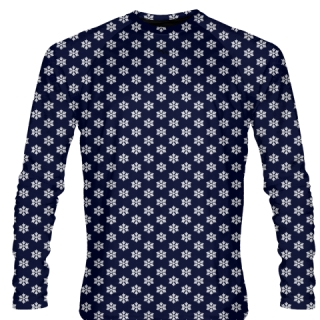 Blue Snowflake Long Sleeve Shirts - Christmas Shirts