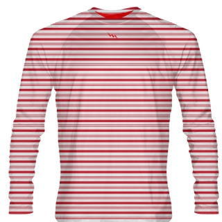 Candy Cane Striped Shirt - Long Sleeve Shirts