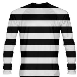 Burglar Costume - Black White Striped Long Sleeve Shirts