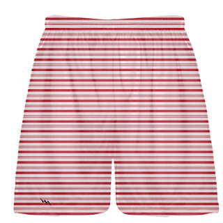Candy Cane Striped Lacrosse Shorts -  Christmas Shorts