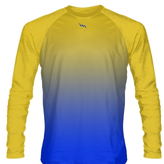 Gold Long Sleeve Basketball Shooter Shirt