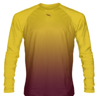 Gold Maroon Basketball Shooting Shirt