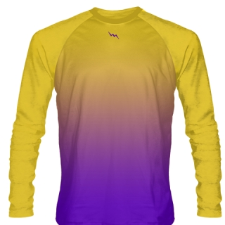 Gold Purple Basketball Long Sleeves