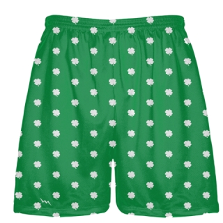 Shamrock Shorts - Shamrock Pattern Shorts - St. Patricks Day Shorts