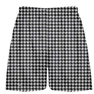 Black Houndstooth Shorts - Sublimated Shorts