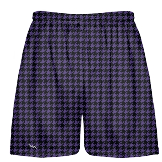 Black Purple Houndstooth Shorts - Sublimated Shorts