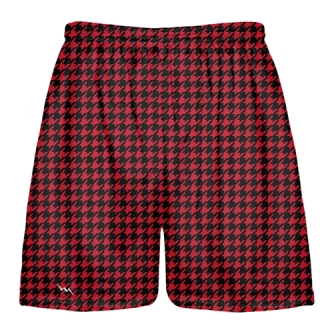 Black Red Houndstooth Shorts - Sublimated Shorts