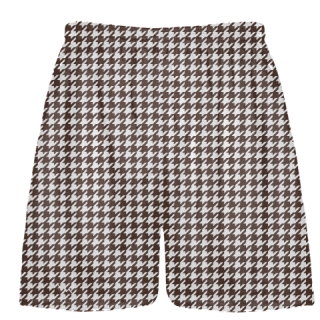 Brown Houndstooth Shorts - Sublimated Shorts