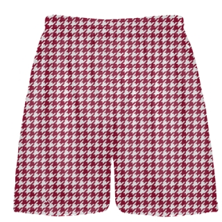 Cardinal Red Houndstooth Shorts - Sublimated Shorts
