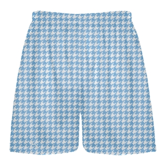 Carolina Blue Houndstooth Shorts - Sublimated Shorts
