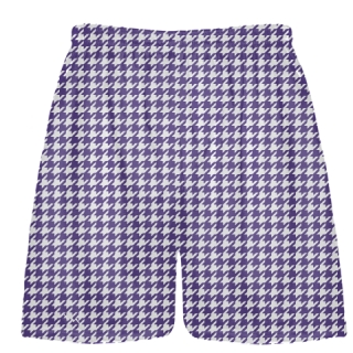 Purple Houndstooth Shorts - Sublimated Shorts