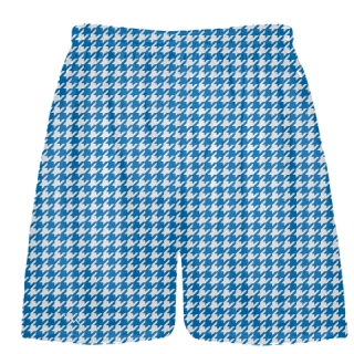 Royal Blue Houndstooth Shorts - Sublimated Shorts