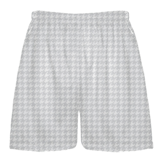 Silver Houndstooth Shorts - Sublimated Shorts