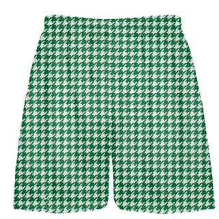 Forest Green Houndstooth Shorts - Sublimated Shorts