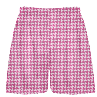 Hot Pink Houndstooth Shorts - Sublimated Shorts