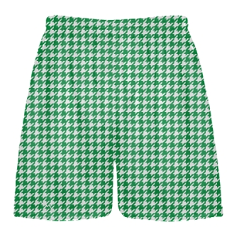 Kelly Green Houndstooth Shorts - Sublimated Shorts
