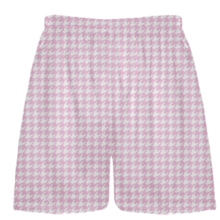 Pink  Houndstooth Shorts - Sublimated Shorts