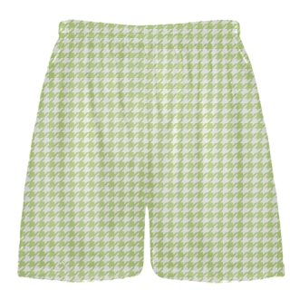 Lime Green Houndstooth Shorts - Sublimated Shorts